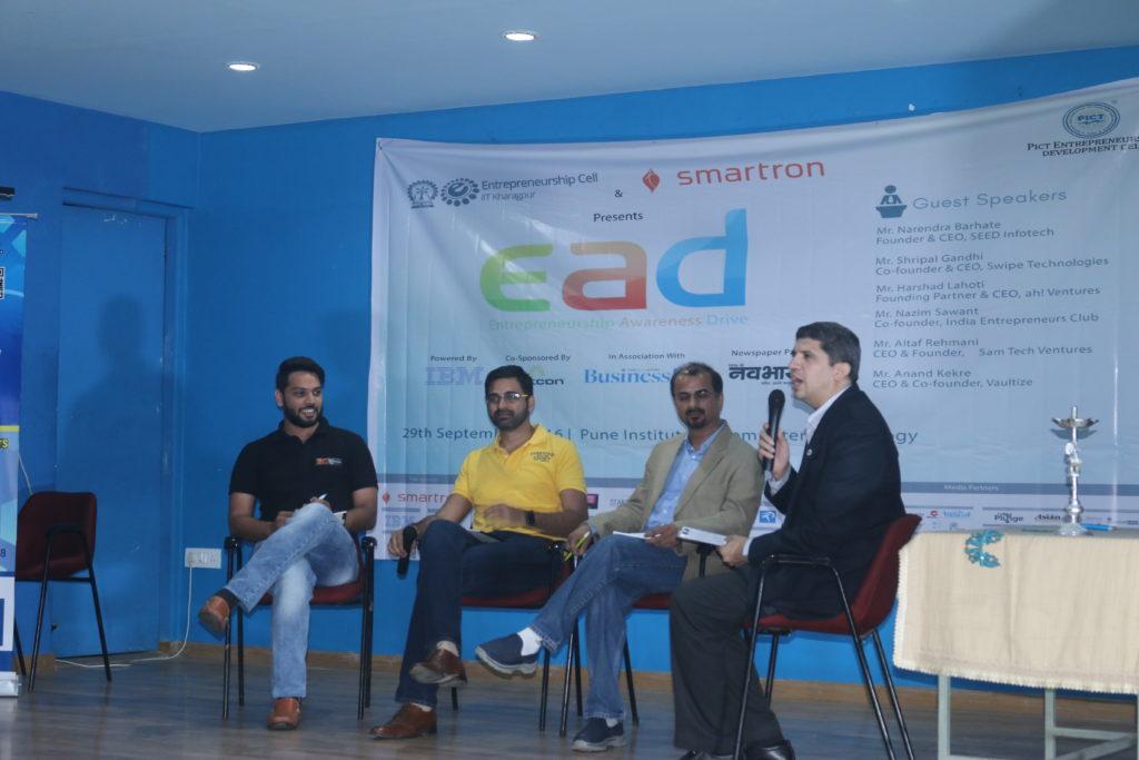 PAN-India Entrepreneurship Awareness Drive 2016, by Entrepreneurship Cell, IIT Kharagpur and Smartron, reaches Pune