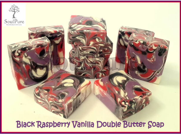 Black Raspberry Vanilla Double Butter soap