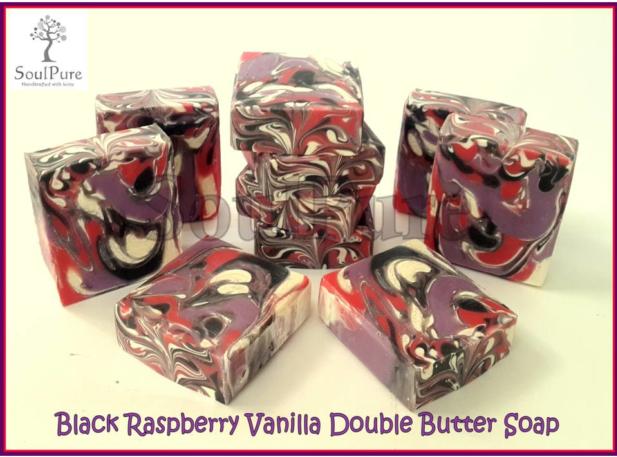 Black Raspberry Vanilla Double Butter soap