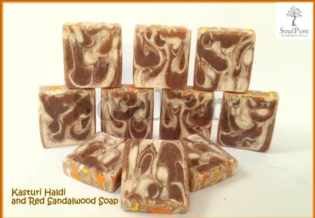 Kasturi Haldi and Red sandalwood soap
