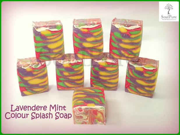 Lavender Mint Colour Splash soap