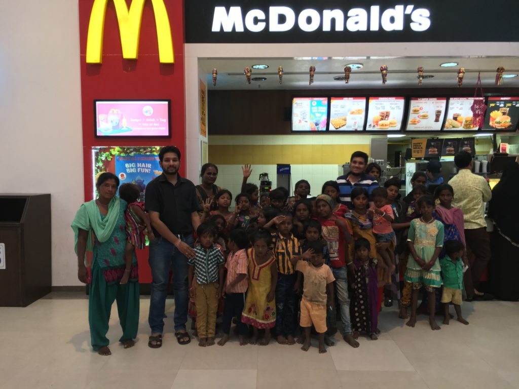 Vedant Goel and Yusuf Soni celebrate their Diwali with underprivileged children in the city, facilitating their fun-filled visit to a sprawling Pune Mall and an awesome meal at McDonalds