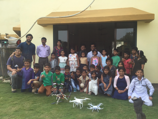 Drone Nation Team after workshop in a school