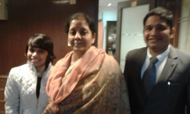 Founders With Minister Mrs. Nirmala Sitharaman