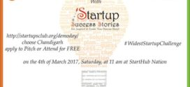 Startups Club to organise Demo Day 2017 on 4th March, 2017 at Chandigarh