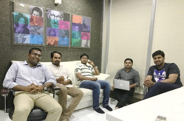 From Left - Keyur Bhalavat (Executive Director), Ravi Patel (Chief Design Officer), Hiren Kanani (Chief Technology Officer), Jankar Rajpara (Chief Product Officer), Alen Abraham - (CEO)